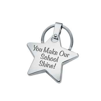 You Make Our School Shine! Star Key Ring