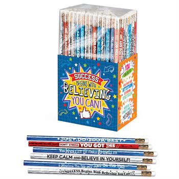 Success Begins With Believing You Can 150-Pice Pencil Collection