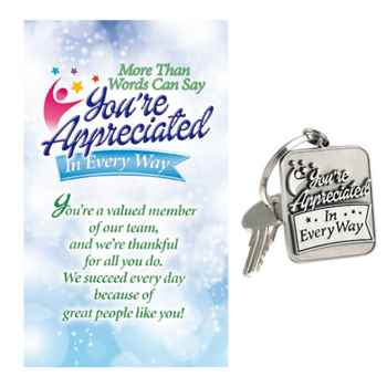 More Than Words Can Say You're Appreciated In Every Way Pewter Key Tag with Keepsake Card