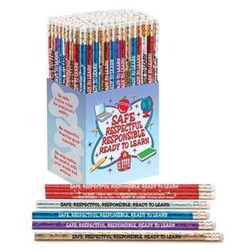 Safe, Respectful, Responsible, Ready To Learn 150-Piece Award Pencil Collection