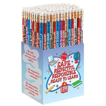 Safe, Respectful, Responsible, Ready To Learn Pencil Collection