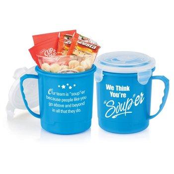 """We Think You're """"Soup""""-er Mug Gift Set 24-oz."""