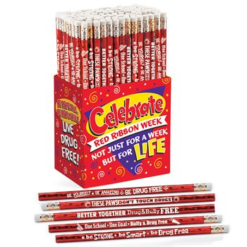 Red Ribbon Week 150-Piece Sparkle Pencil Collection