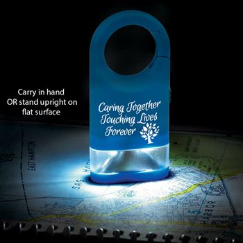 Caring Together Touching Lives Forever Flashlight With Pillow Box