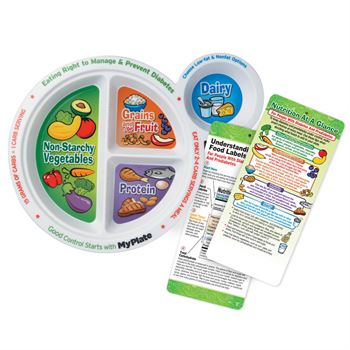Portion Meal Plate With Glancer For People With Diabetes