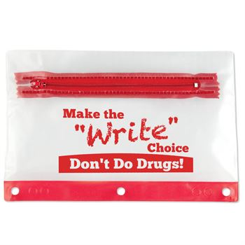 Red Ribbon Week 4-Pc. Pencil Pouch Set