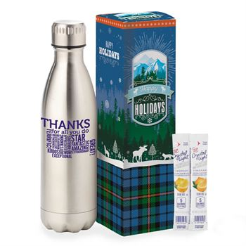 Thanks For All You Do! Denali Stainless Steel Vacuum Bottle Holiday Gift Set 17-oz.