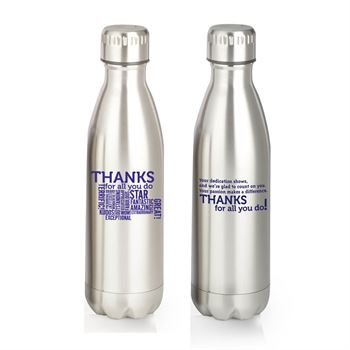Thanks For All You Do! Denali Stainless Steel Vacuum Bottle Holiday Gift Set