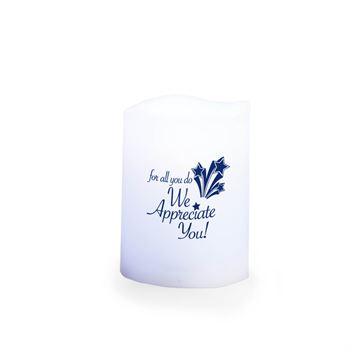 For All You Do We Appreciate You! Holiday Gift-Boxed Color-Changing Flameless Candle With Remote