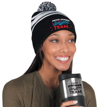 Proud Member Of An Awesome Team Beanie & Tumbler Holiday Combo
