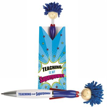 Teaching Is My Superpower! Mop Topper™ With Cape Pen & Pillow Box