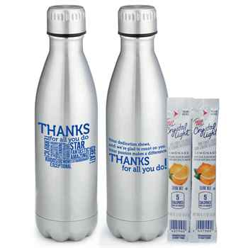 Thanks For All You Do Denali Stainless Steel Water Bottle 17-oz.