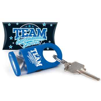 Team Environmental Services LED Carabiner Flashlight Lamp With Pillow Box