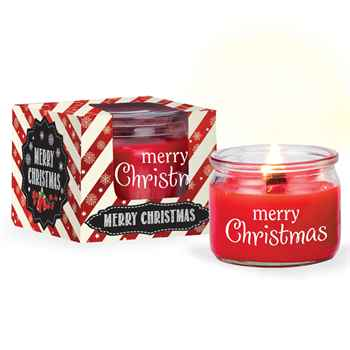 Merry Christmas Candle in Holiday Gift Box