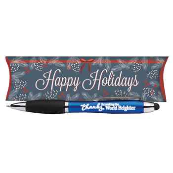 Thanks For Making The World Brighter Light & Write Stylus Pen in Holiday Gift Box