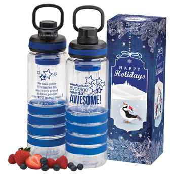 We Don't Do Average We Do Awesome Fresno Fruit Infuser Water Bottle 24-Oz. in Holiday Gift Box
