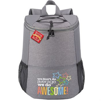 We Don't Do Average, We Do Awesome! Hemingway Backpack Cooler with Holiday Gift Card