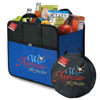 We Appreciate All You Do! Cargo Box & Auto Emergency Kit Travel Combo with Holiday Gift Cards