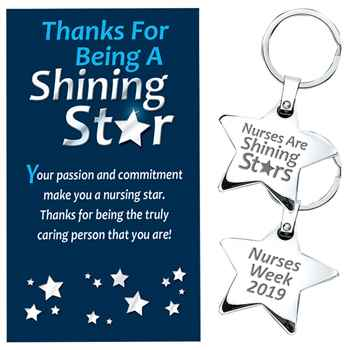 Nurses Are Shining Stars/Nurses Week 2019 - Star Key Tag With Keepsake Card