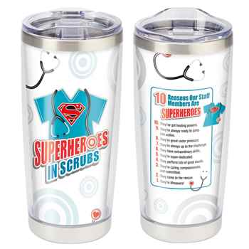 Superheroes In Scrubs Full-Color Insulated Tumbler 20-Oz.