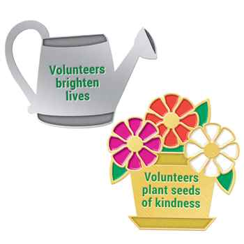 Volunteers Gardening 2-Piece Lapel Pin Set