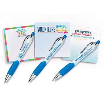Volunteers Flair Pen & Sticky Pad Assortment Pack