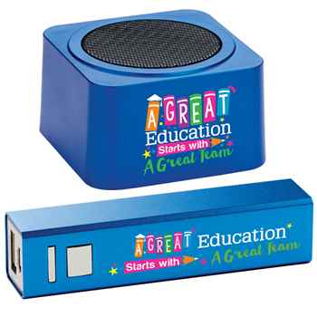 A Great Education Starts With A Great Team Bluetooth® Speaker & Power Bank Combo