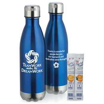 Teamwork Makes The Dream Work Denali Stainless Steel Vacuum Bottle 17-Oz.