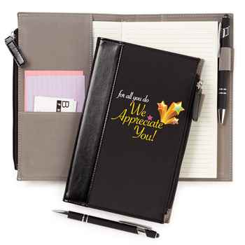 For All You Do We Appreciate You! Leatherette Pocket Journal & Stylus Pen