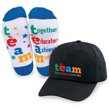 Team: Together Educators Achieve More Baseball Cap & Socks Combo