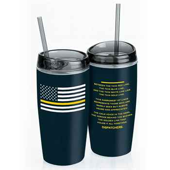 The Thin Gold Line Double-Wall Acrylic Tumbler 16-Oz. with Straw