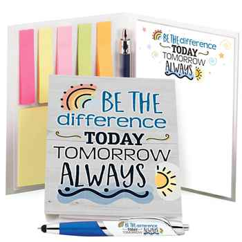 Be The Difference Today Tomorrow Always Stationery Folio With Stylus Pen