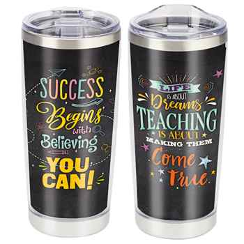 Success Begins With Believing You Can! Full-Color Insulated Tumbler 20-Oz.