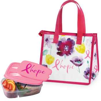 Hope Insulated Eco-Lunch Bag & 2-Section Food Container Gift Combo