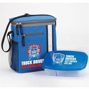 Truck Drivers Keep America Rolling Lunch/Cooler Bag & Food Container Gift Set