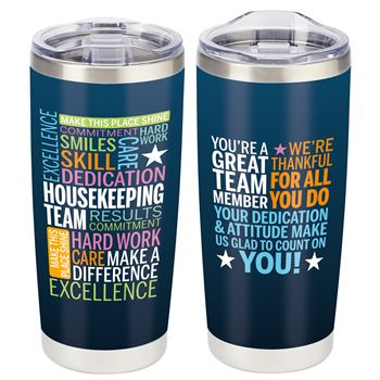 Housekeeping Team Full-Color Insulated Tumbler 20-Oz.