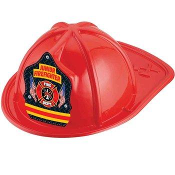 Red Junior Firefighter Hat With Maltese Cross & Flag