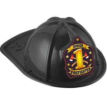 Black #1 Junior Firefighter Fire Hat
