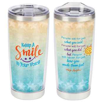 Keep A Smile In Your Voice Full-Color Insulated Tumbler 20-Oz.