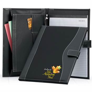 For All You Do, We Appreciate You! Leatherette Portfolio with Stylus Pen in Holiday Gift Sleeve