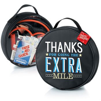 Thanks For Going The Extra Mile Auto Emergency Kit with Holiday Gift Card