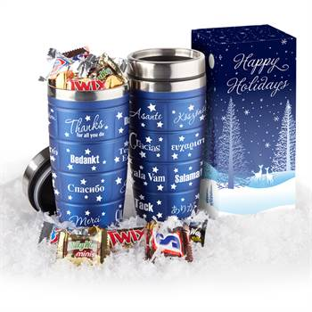 World Of Thanks Tumbler 16-Oz. With Chocolates In Holiday Gift Box