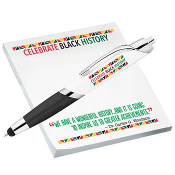 Celebrate Black History Sticky Pad & Pen Set