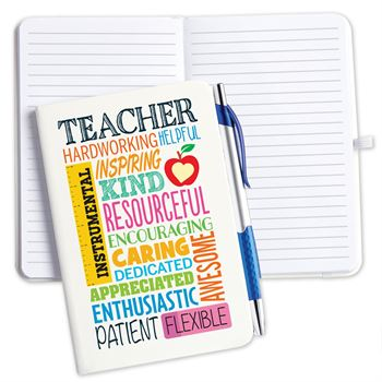 Teacher Cloud Hardcover Journal With Pen