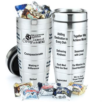 Caring Is Always On The Menu Stainless Steel Message Tumbler 16-Oz. & Chocolate