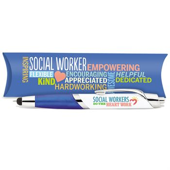 Social Workers Do The Heart Work Aventura Stylus Pen With Pillow Box