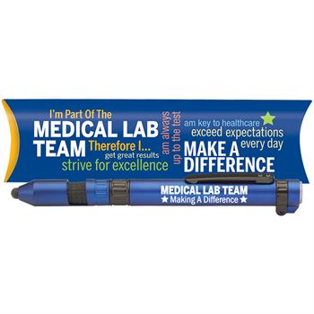 Medical Lab Team Making A Difference 6-In-1 Dynamo Multi-Tool Pen