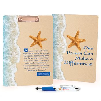 One Person Can Make A Difference Clipboard & Full-Color Pen Gift Set