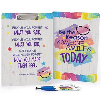 Be The Reason Someone Smiles Today Clipboard & Full-Color Pen Gift Set