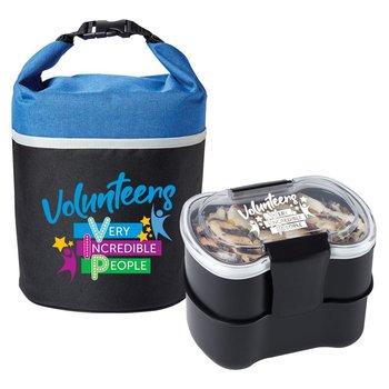 Volunteers Bellmore Lunch/Cooler Bag & 2-Tier Food Container Combo